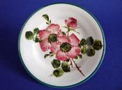 Small Wemyss Ware 'Dog Roses' Tea Plate c1890
